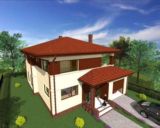 Dom jednorodzinny Puławy – Domek B